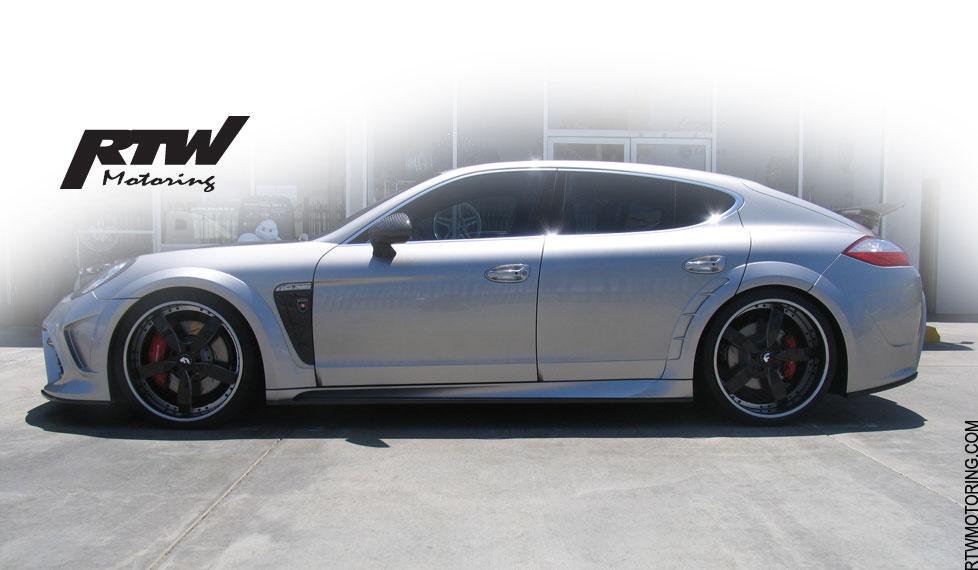 Porsche Panamera Turbo Mansory Platinum Silver